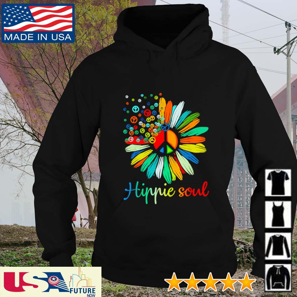 Flower Daisy peace color hippie soul s hoodie