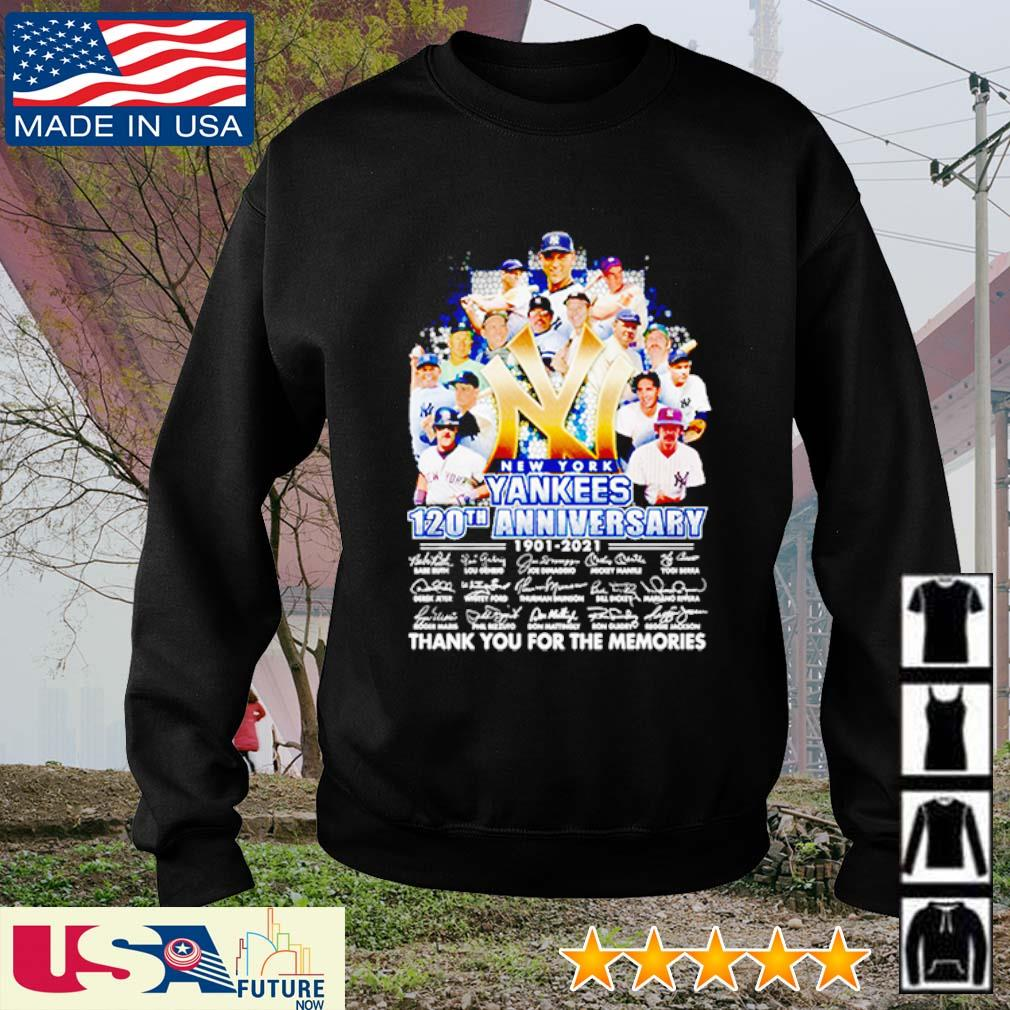 New York Yankees 120th anniversary 1901 - 2021 thank you for the memories signatures s sweater